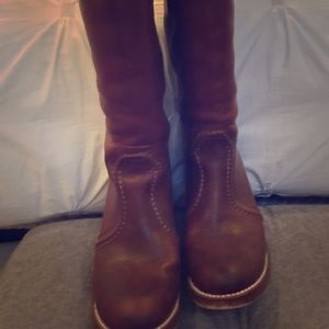 Frye tall shaft leather boots
